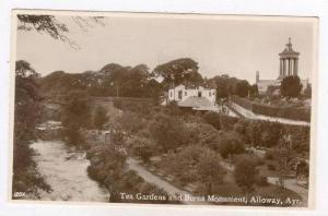 RP  Tea Gardens & Burns monument, Alloway, Ayr, Scotland, UK, PU-1942
