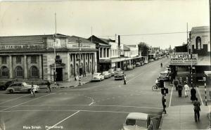 south africa, PIETERSBURG, Mare Street, Bank, Chemists, Cars (1960s) Postcard