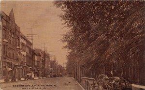 G12/ Gallipolis Ohio Postcard c1910 Second Ave North Stores