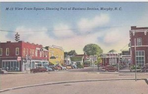 North Carolina Murphy View From Square Showing Part Of Business Section