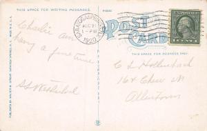 Arrowhead Inn, Saratoga Lake, N.Y., Early Postcard, Used in 1920