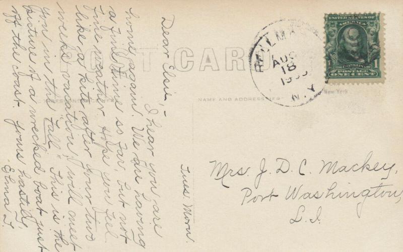 RP: FIRE ISLAND , New York, 1908 ; Shipwreck of S.S. Peter Rickmers, Short Bea