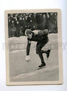166980 VII Olympic SIGGE ERICSSON speed skater CIGARETTE card
