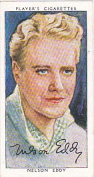 Player Cigarette Card Film Stars 3rd Series No 13 Nelson Eddy