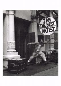 Postcard I am the Best Artist, Wooster Street NEW YORK by Victor Macarol #67