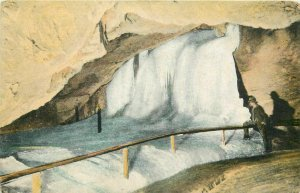 Dobsinska Glaciar Ice Cave interior ( Dobsina, Slovakia ) Frozen waterfall 1912