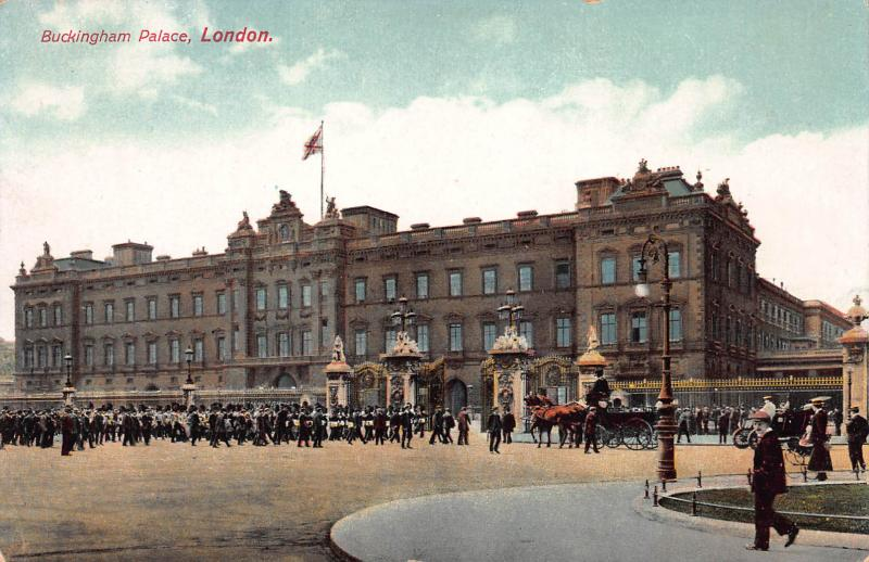 Buckingham Palace, London, England, early postcard, unused
