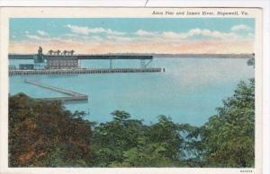 Virginia Hopewell Anco Pier and James River Curteich