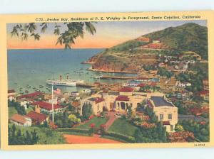 Linen WRIGLEY MANSION FOREGROUND Avalon - Catalina Island - Los Angeles CA d0783