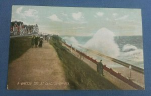 Vintage Postcard A Breezy Day At Clacton-On-Sea Essex H1D