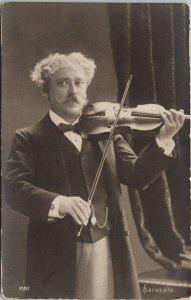 Pablo Sarasate Violin Violinist Musician Real Photo Postcard G27