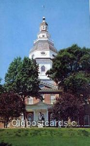 Annapolis, Maryland, MD State Capital, Capitals Postcard Post Card USA  Annap...