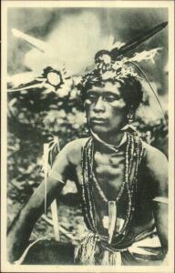 Carolines Islands N or New Guinea Witch Doctor Voodoo Un Sorcier Ethnography
