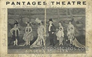 Pantages Theater Singer's Midgets, Circus Oddities writing on back horrible c...