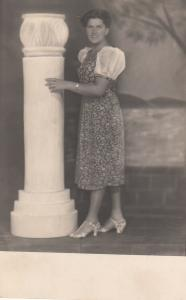 Photo postcard dated 1939 Vac hungary woman portrait hungarian type