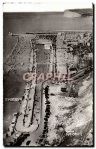 Treport - The Beach and the dam - Old Postcard