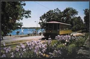 Minnesota, Minneapolis, vintage streetcar 1300, unused