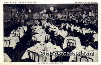 Joe King's Rathskeller Restaurant, New York City, NYC USA 1949 light wear pos...