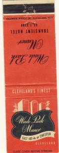 Vintage Cleveland, Ohio/OH Matchcover, Wade Park Manor