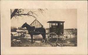 Chalmers IN Horse Wagon - RFD Mail Wagon? c1910 Real Photo Postcard