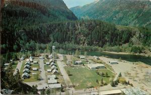 Seattle WA~Diablo Camp~Skagit Hydroelectric Project~1950s Postcard