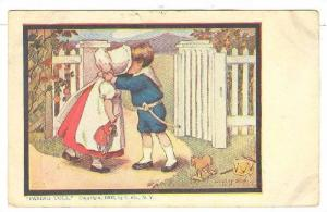 Paying Toll by Dorothy-Dixon, Boy kissing girl weating bonnet, PU-1908