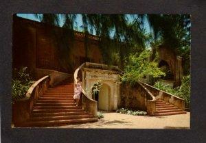 PR Dorado Beach Golf Club House Stairway  Puerto Rico Postcard Care Postale