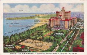 Illinois Chicago Edgewater Beach Hotel