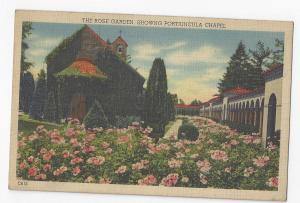 Washington DC Franciscan Monastery Portiuncula Chapel Rose Garden Linen Postcard