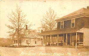 Prospect Harbor ME Ray's Store Dirt Street View 1914 Real Photo RPPC Postcard