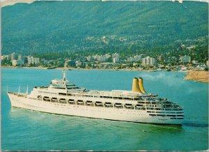 MV 'Canberra' Ship West Vancouver BC British Columbia Postcard C5