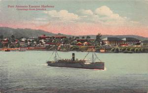 Greetings from Jamaica, Port Antonio Eastern Harbour, Early Postcard, Unused