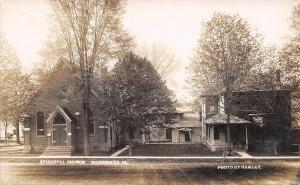 Maquoketa IA Episcopal Church~Neighb Encroach~Pastors Kids~Parsonage RPPC c1906