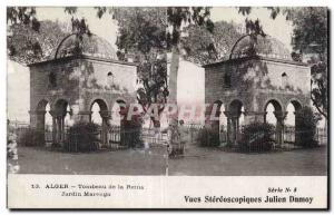 Stereoscopic Card - Algiers - Tomb of the Queen - Garden of Marengo - Old Pos...