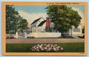 Postcard DE Rehoboth Beach Country Club Vintage Linen T11