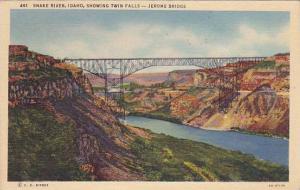 Jerome Bridge, Twin Falls, Snake River, Idaho,  PU-1939