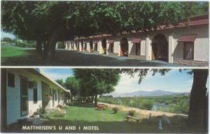 Mattheisen's U and I Motel Okanogan Washington WA