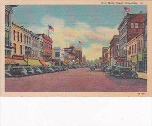 Illinois Galesburg East Mmain Street 1950