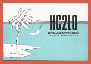 QSL AMATEUR RADIO CARD – GUAYAQUIL, ECUADOR – 1971