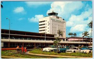 HONOLULU, Hawaii  HI   HONOLULU INTERNATIONAL AIRPORT  c1960s Cars  Postcard
