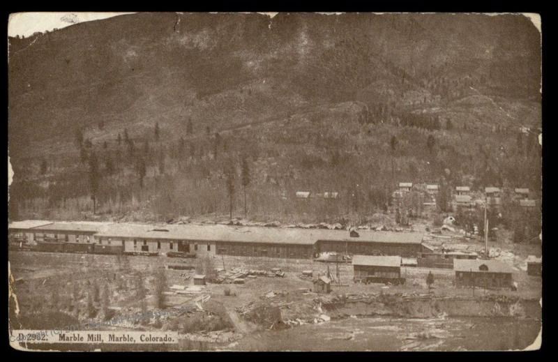 USA 1903 Colorado Marble Mill MARBLE COLO PPC 88038