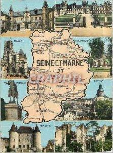 Postcard Modern Seine et Marne