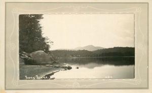 Adirondack 1920s Long Lake North River New York Frame like postcard 2131