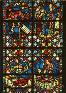 POSTAL 61603: Vidriera Catedral de Tours