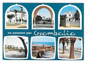 Africa Tunisia Grombalia Nabeul Multiview Vintage Postcard