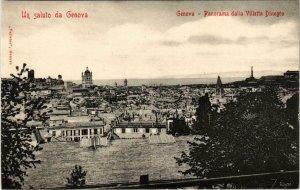 CPA GENOVA Panorama dalla Villetta Dinegro ITALY (801624)
