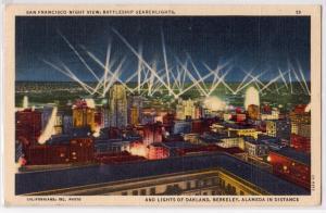Battleship Searchlights, San Francisco CA