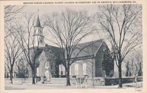 Virginia Williamsburg Bruton Parish Church Oldest Church In Constant Use In A...
