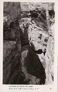 New York Olean Caverns At Rock City Park Real Photo
