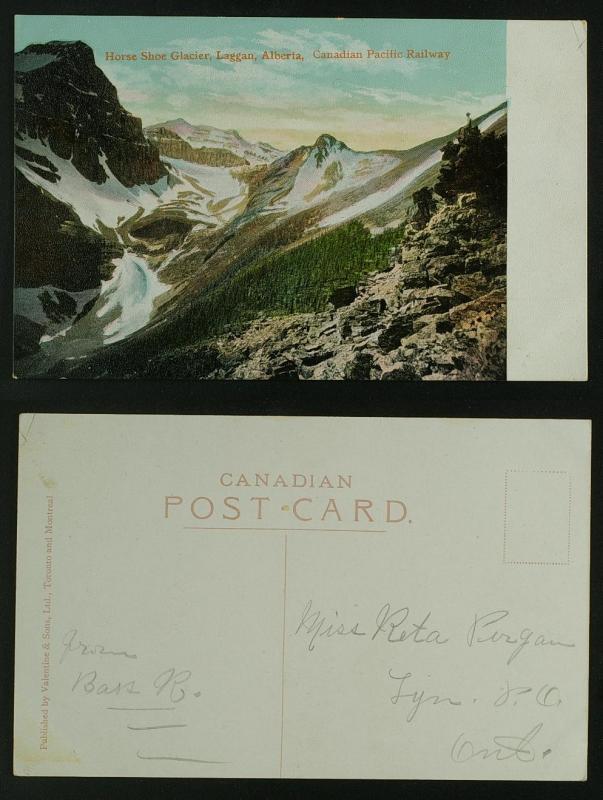 Horseshoe Glacier Laggan Alberta Canadian Pacific Railway